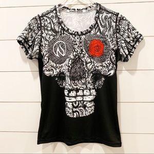 INKnBURN Skull With Rose Eye Shirt